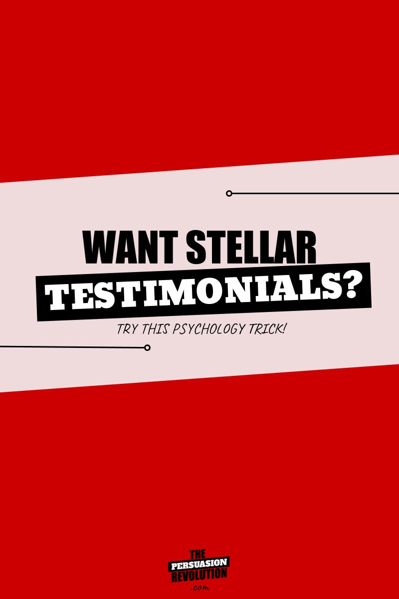 A science backed, psychology trick for getting stellar testimonials #entrepreneurtips #marketingtips #onlinebusiness #thepersuasionrevolution