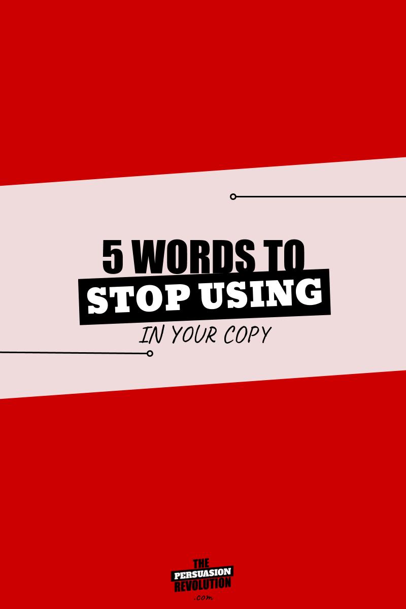 5 dangerously ambiguous words that kill your persuasion power #copywriting #onlinebusiness #marketingtips #thepersuasionrevolution