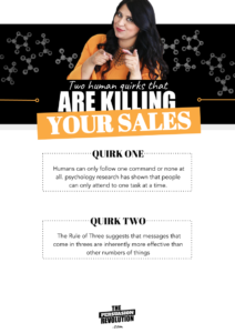 2 Human quirks that kill the sale and how to counter them