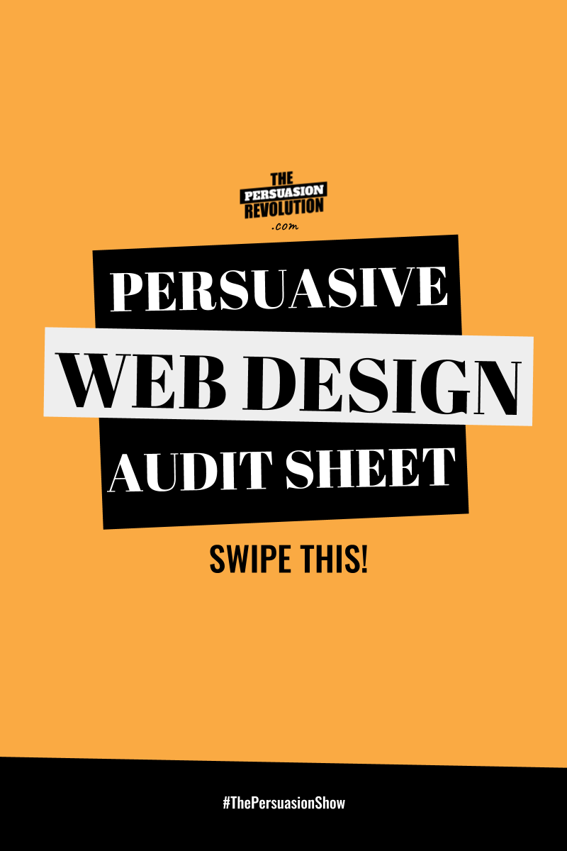 Persuasive Web Design Audit Sheet: Your Guide to Non-sucky, super persuasive, web design
