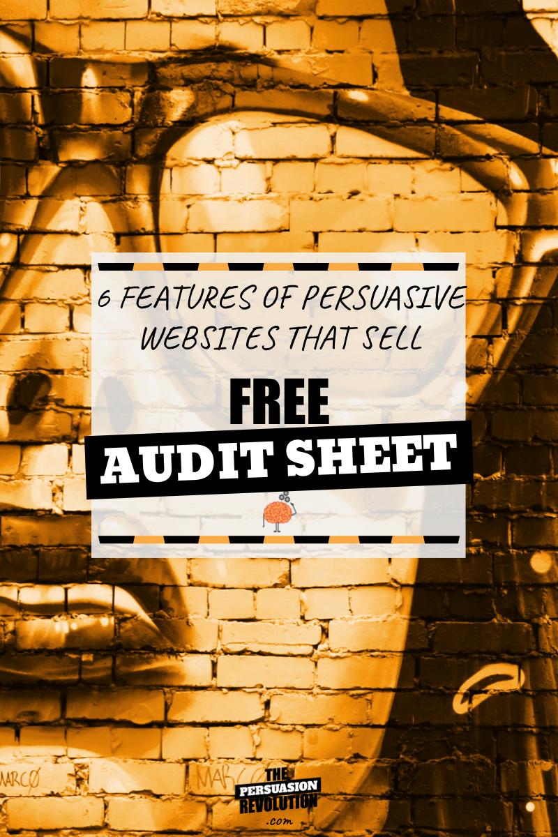 Persuasive Web Design Audit Sheet: Your Guide to Non-sucky, super persuasive, web design