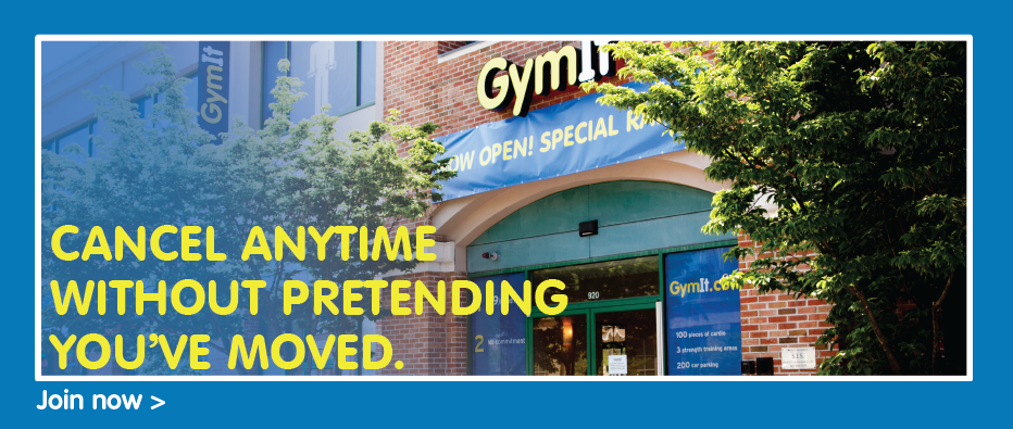 Most Gyms would only promise fitness results, look how GymIt is distinguishing them by tapping onto a real fear! Disruptive and unique.
