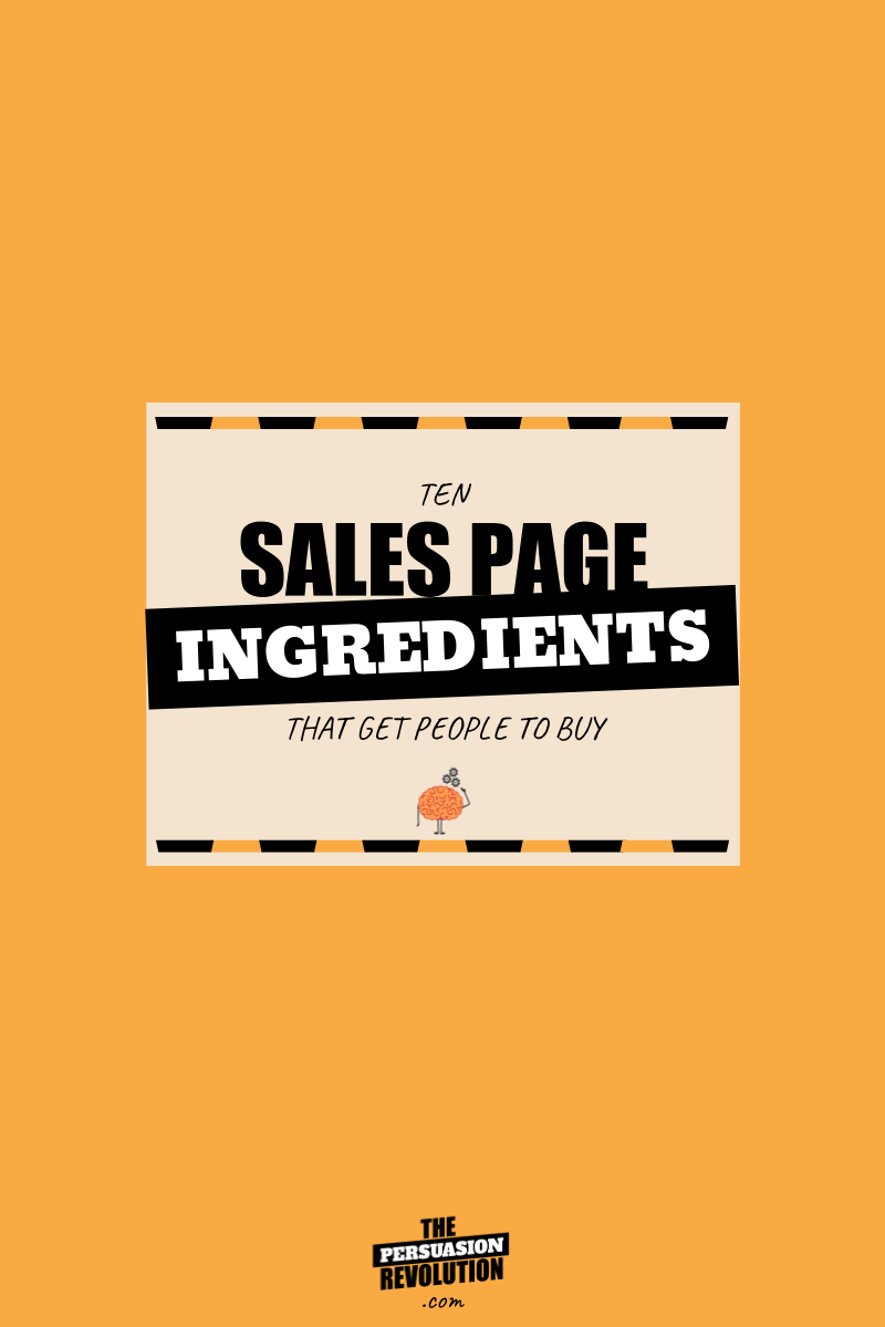 10 ingredients of sales pages that make people dream, drool, and buy #entrpreneurship #onlinebusiness #thepersuasionrevolution
