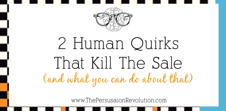 2 Human Quirks, a Rush of Irrationality & Why People Don't Buy From You